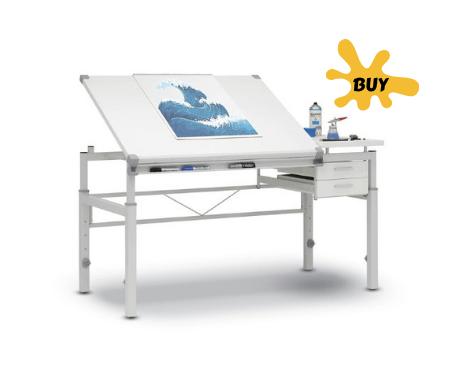 drafting table artist home studio idea